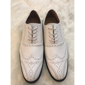 Shoes - Oxford Wing Tip Shoes White Size 11